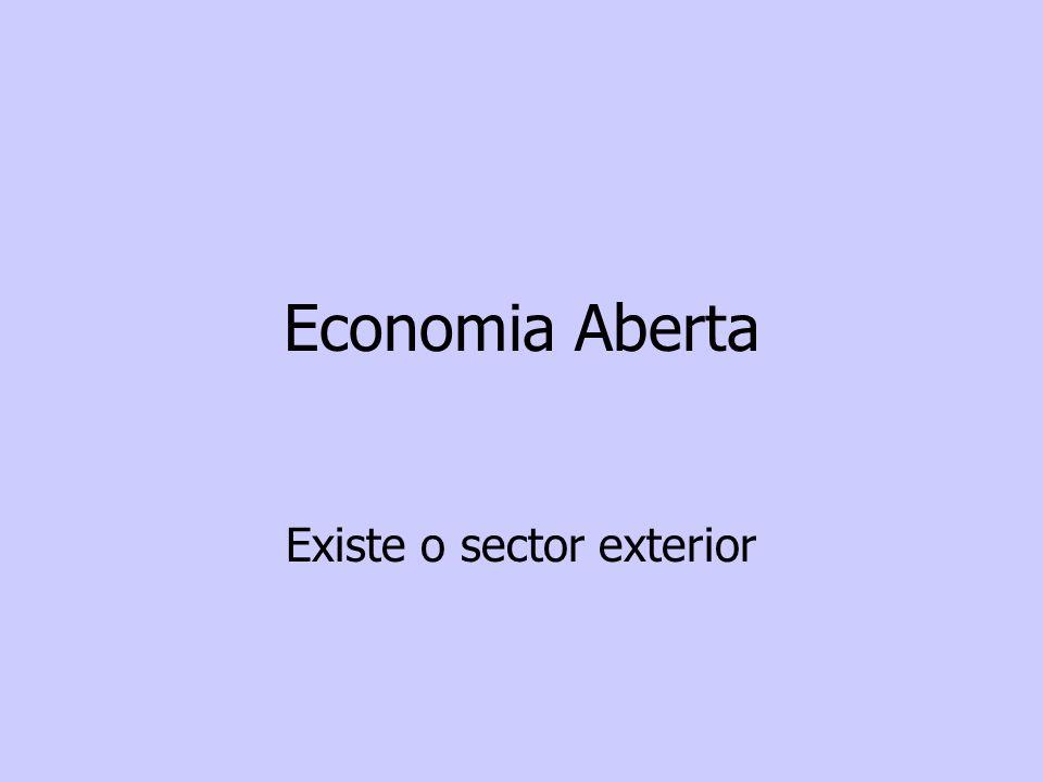 Economia Aberta Existe o sector exterior