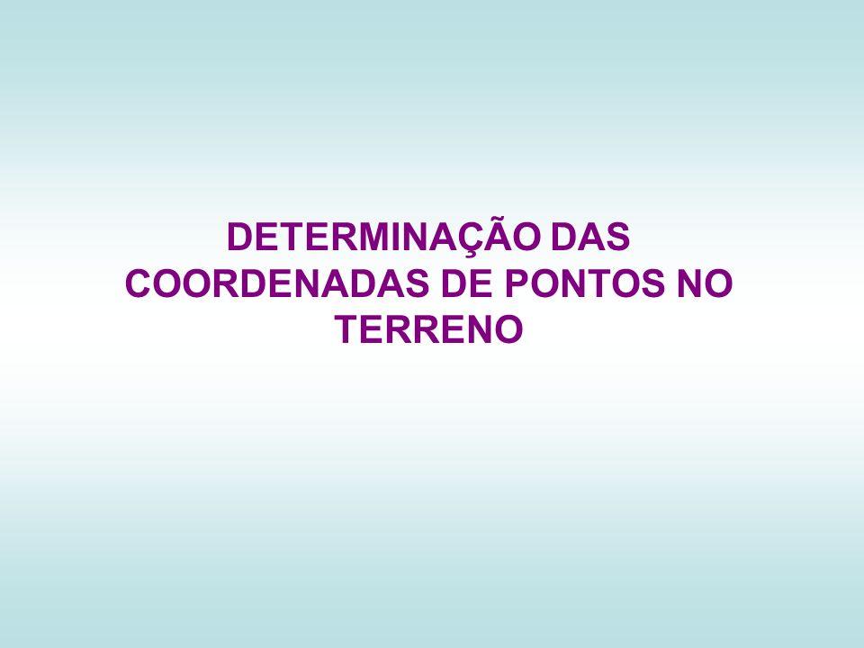 DETERMINAÇÃO DAS COORDENADAS DE PONTOS NO TERRENO