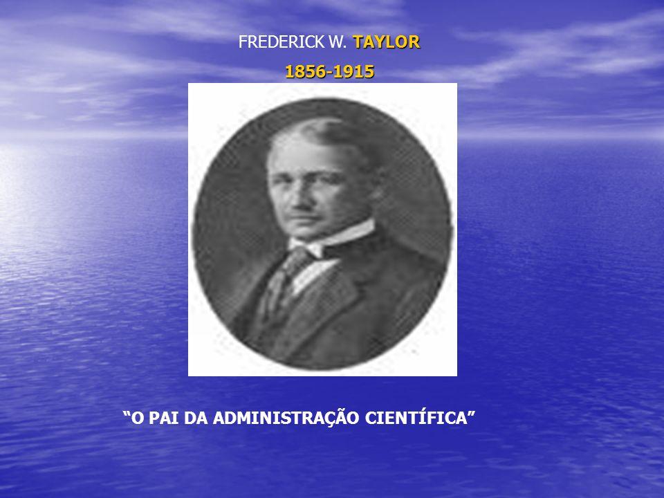 TAYLOR FREDERICK W. TAYLOR1856-1915 O PAI DA ADMINISTRAÇÃO CIENTÍFICA