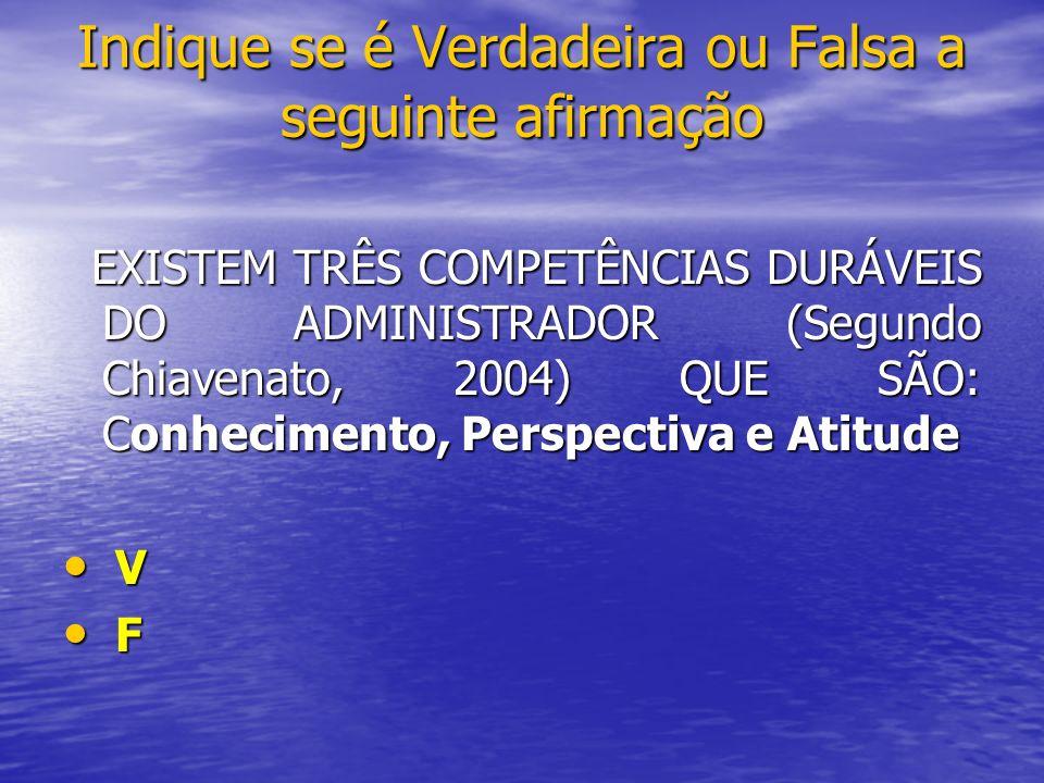EXISTEM TRÊS COMPETÊNCIAS DURÁVEIS DO ADMINISTRADOR (Segundo Chiavenato, 2004) QUE SÃO: Conhecimento, Perspectiva e Atitude EXISTEM TRÊS COMPETÊNCIAS