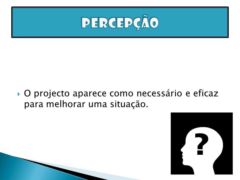 O projecto aparece como necessário e eficaz para melhorar uma situação.