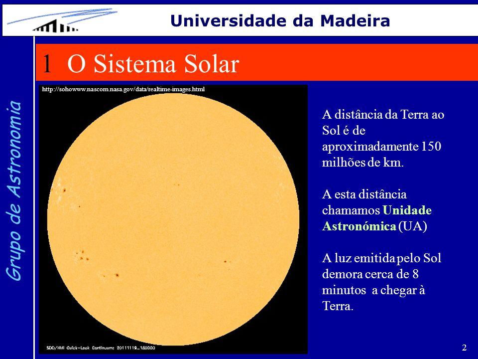 3 Grupo de Astronomia Universidade da Madeira A Terra e o Sol representados na mesma escala.
