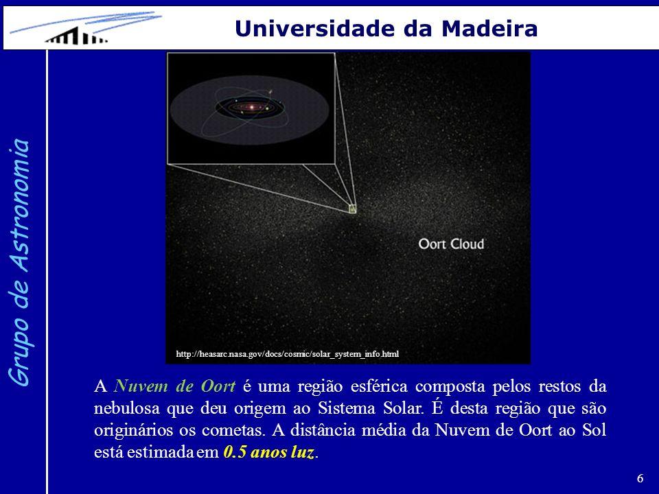 7 Grupo de Astronomia Universidade da Madeira http://www.pd.infn.it/~bertolin/closestsuns.html O sistema estelar mais próximo do Sol é Alfa-Centauri a 4.4 anos luz.