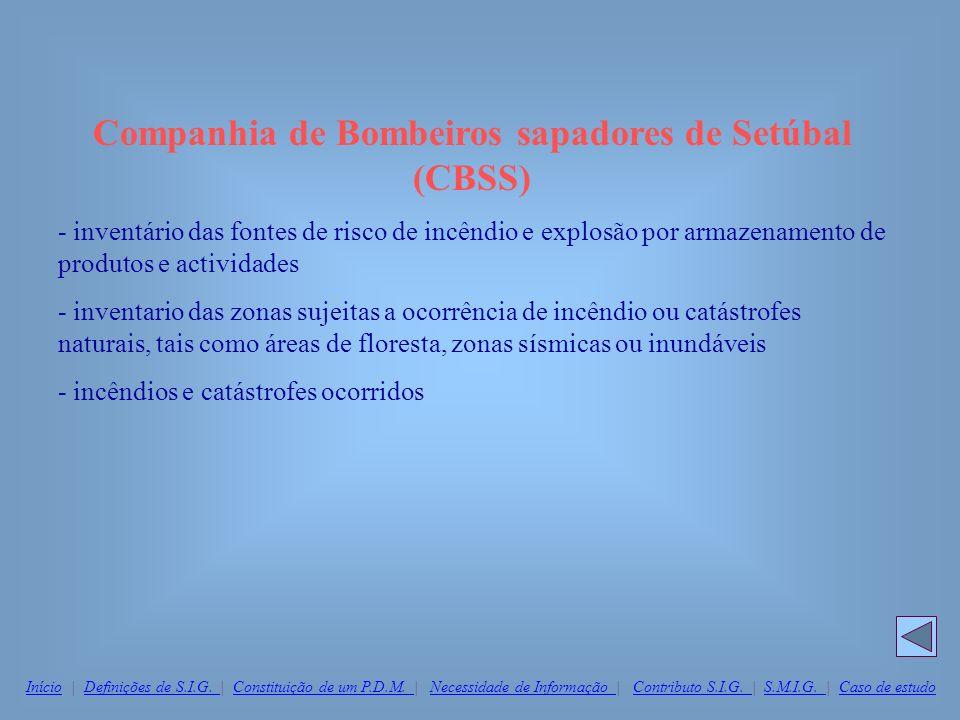 Companhia de Bombeiros sapadores de Setúbal (CBSS) - inventário das fontes de risco de incêndio e explosão por armazenamento de produtos e actividades