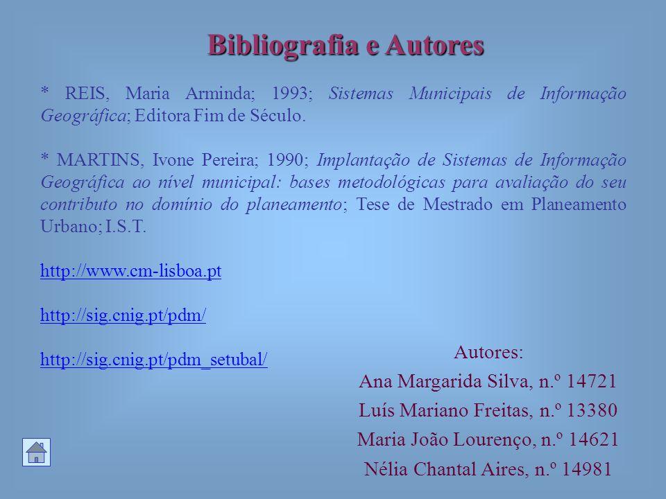Bibliografia e Autores Autores: Ana Margarida Silva, n.º 14721 Luís Mariano Freitas, n.º 13380 Maria João Lourenço, n.º 14621 Nélia Chantal Aires, n.º