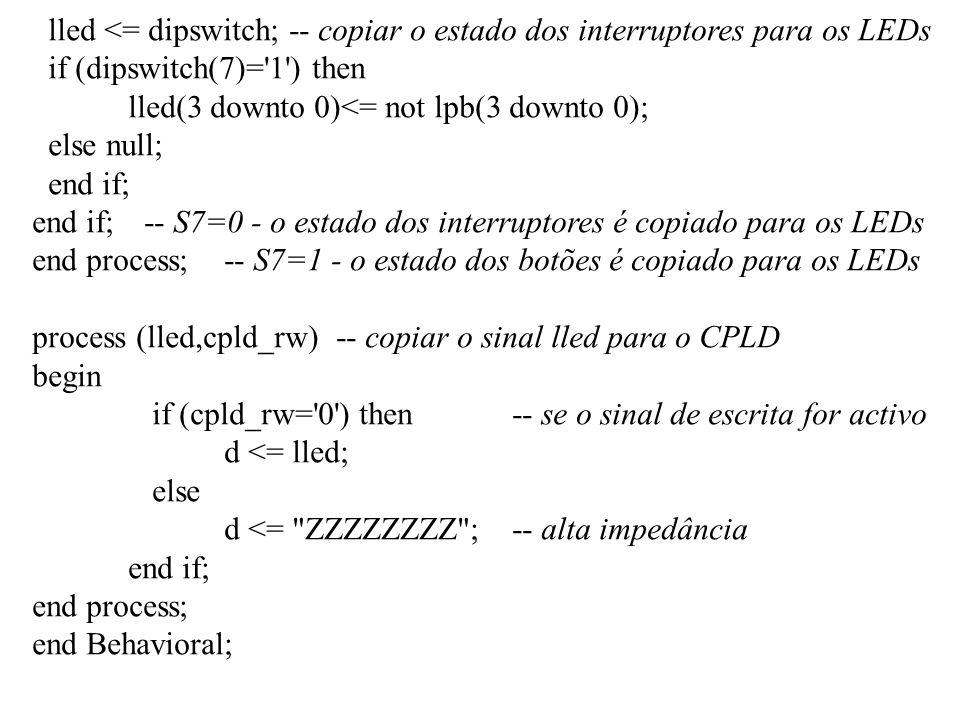 NET clk TNM_NET = clk ; TIMESPEC TS_clk = PERIOD clk 48 MHz HIGH 50 %; NET rst LOC = P15 ;# LED individual NET d LOC = P16 ; NET d LOC = L16 ; NET d LOC = L13 ; NET d LOC = J14 ; NET d LOC = G15 ; NET d LOC = F14 ; NET d LOC = E15 ; NET d LOC = B16 ; NET cpld_rw LOC = M15 ; NET cpld_cs LOC = M16 ; NET clk LOC = T9 ; NET a LOC = M10 ; NET a LOC = T10 ; CPLD XC9572XL A(2:1) D(7:0) Read/WriteChip select P16,L16, L13,J14, G15,F14, E15,B16 M16 M15 M10,T10 48 MHz