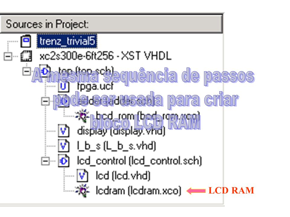 LCD RAM