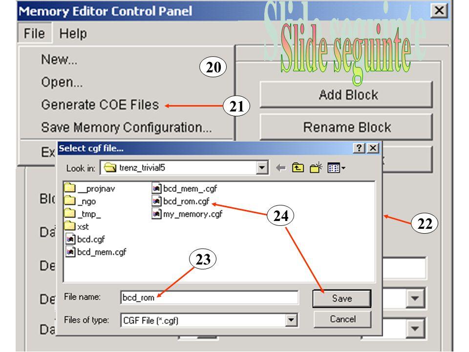 Para abrir o componente criado com Core generator Clique com o botão direito do rato