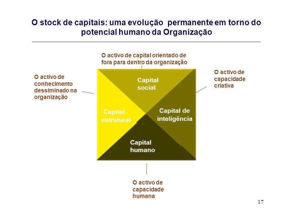 17 O stock de capitais: uma evolução permanente em torno do potencial humano da Organização __________________________________________________________