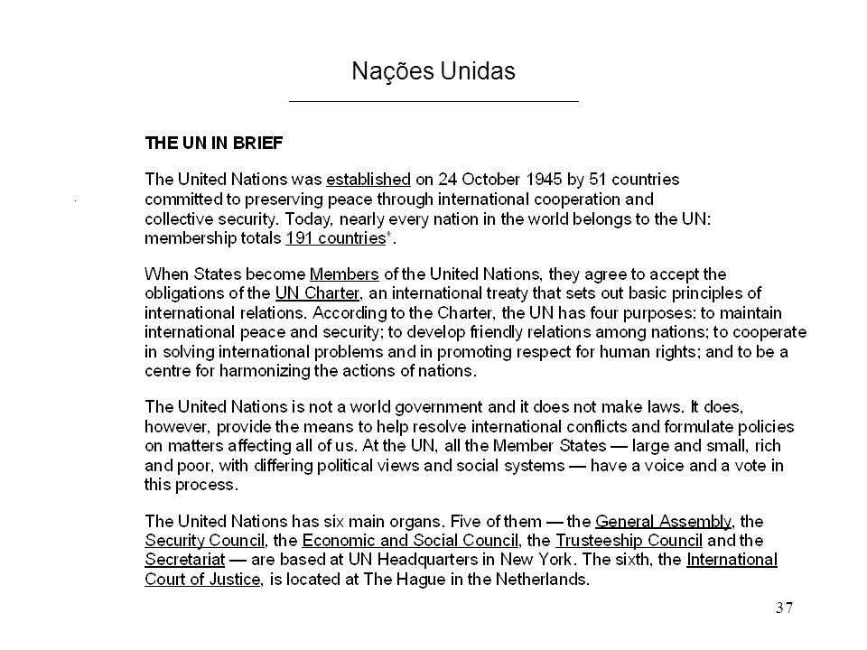 37 Nações Unidas ____________________________________.