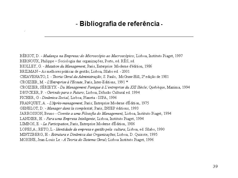 39 - Bibliografia de referência - ___________________________________________________________________________.