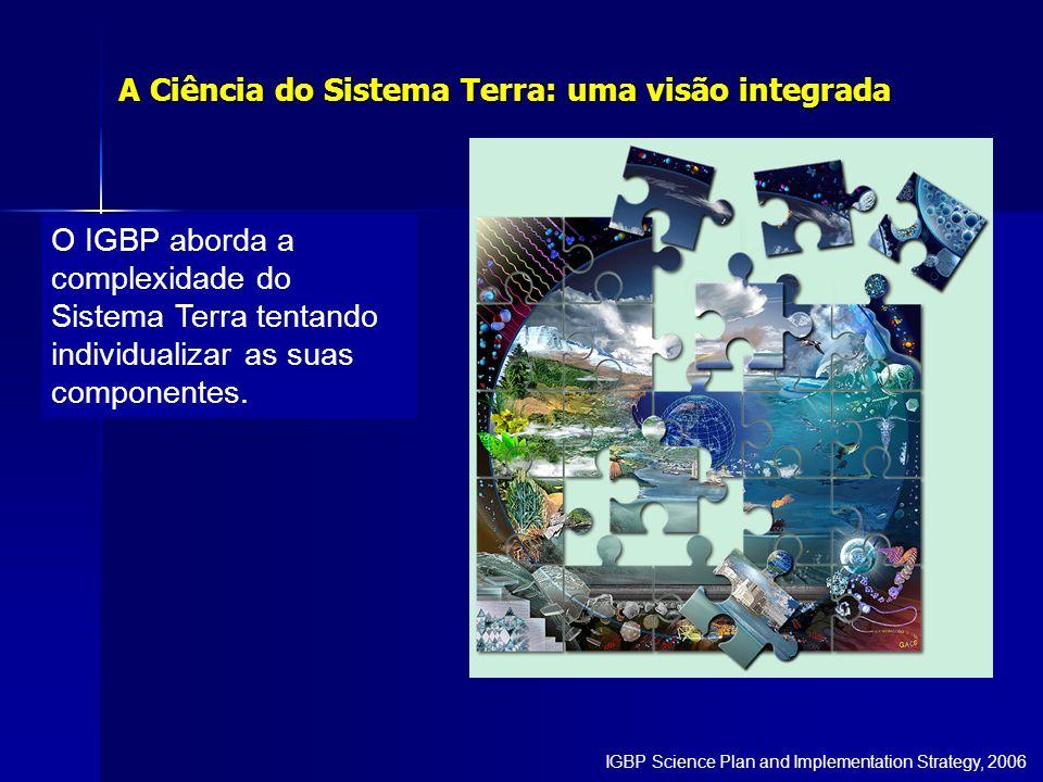 O IGBP aborda a complexidade do Sistema Terra tentando individualizar as suas componentes. A Ciência do Sistema Terra: uma visão integrada IGBP Scienc