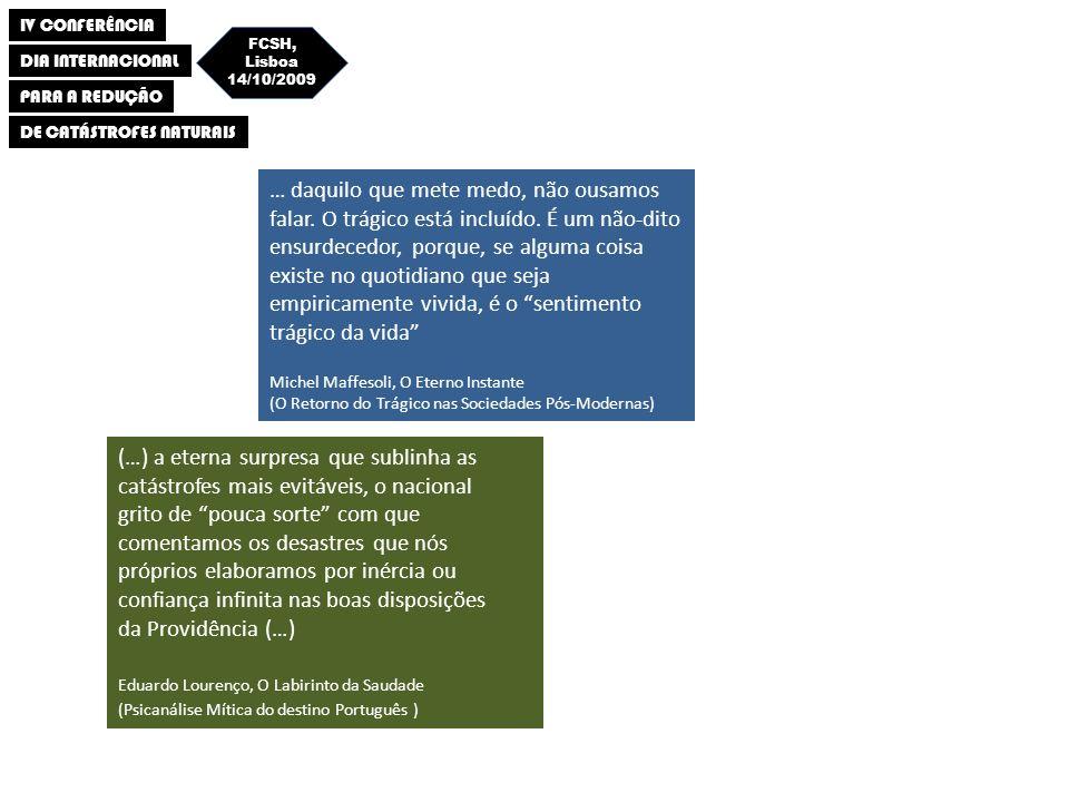 IV CONFERÊNCIA DIA INTERNACIONAL PARA A REDUÇÃO DE CATÁSTROFES NATURAIS FCSH, Lisboa 14/10/2009 Vilanova e Fonseca (BSSA, 2007) Aceleração do solo com probabilidade de excedência de 10% em 50 anos