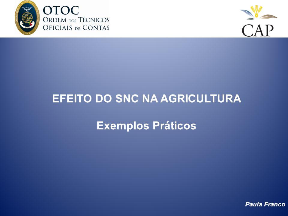 Paula Franco EFEITO DO SNC NA AGRICULTURA Exemplos Práticos
