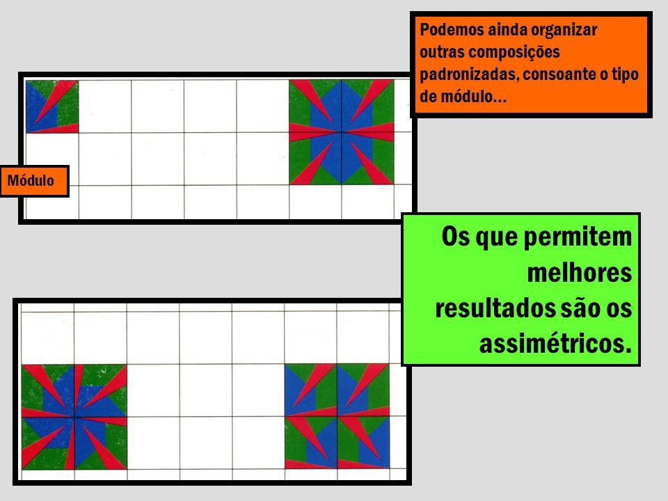 Módulo Podemos ainda organizar outras composições padronizadas, consoante o tipo de módulo… Os que permitem melhores resultados são os assimétricos.
