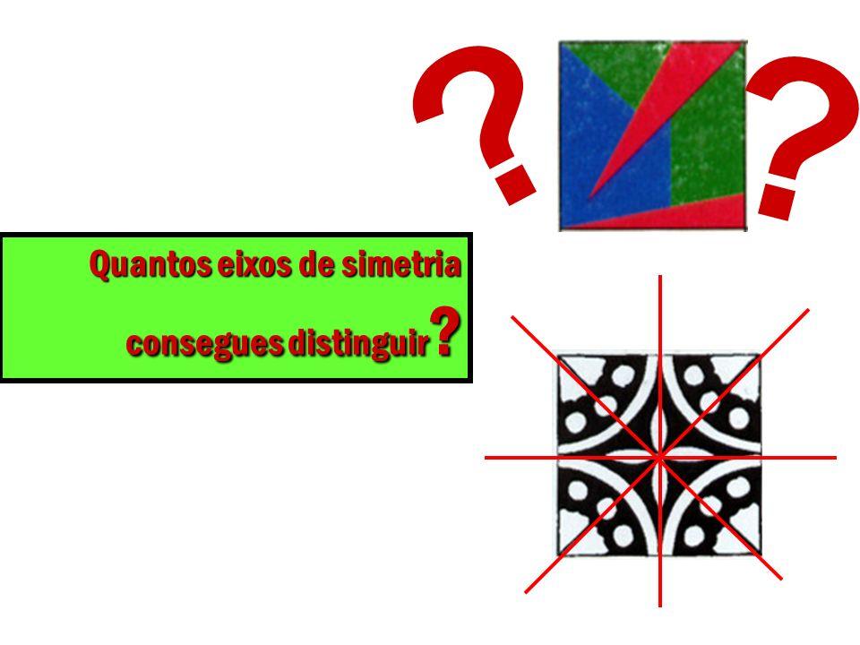 Quantos eixos de simetria consegues distinguir ? ? ?