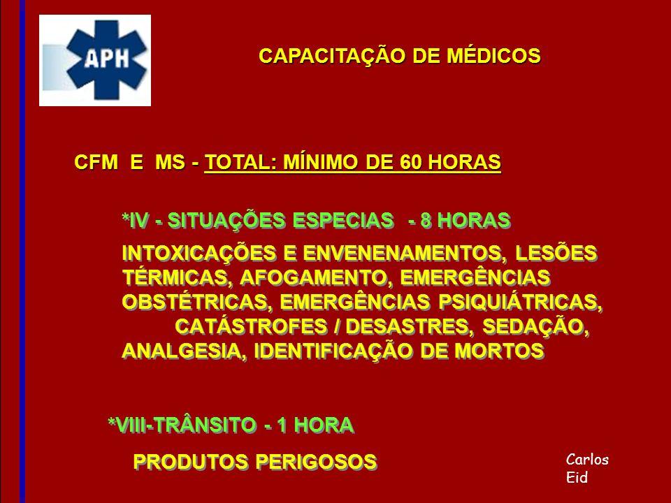 *IV - SITUAÇÕES ESPECIAS - 8 HORAS INTOXICAÇÕES E ENVENENAMENTOS, LESÕES TÉRMICAS, AFOGAMENTO, EMERGÊNCIAS OBSTÉTRICAS, EMERGÊNCIAS PSIQUIÁTRICAS, CAT