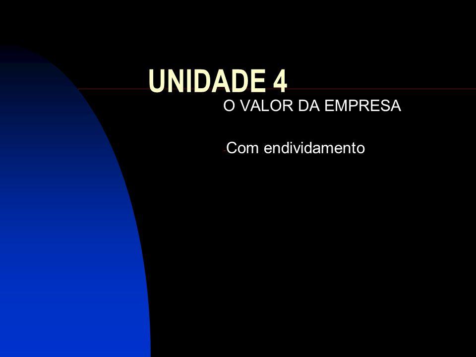 UNIDADE 4 O VALOR DA EMPRESA - Com endividamento