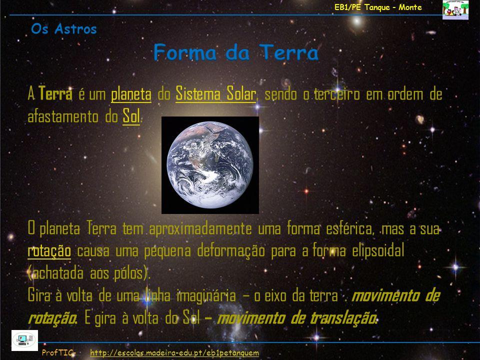 EB1/PE Tanque - Monte ProfTIC- http://escolas.madeira-edu.pt/eb1petanquemhttp://escolas.madeira-edu.pt/eb1petanquem A Terra é um planeta do Sistema So