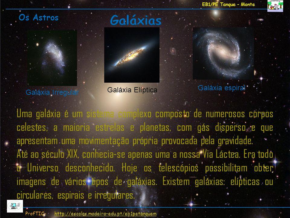 EB1/PE Tanque - Monte ProfTIC- http://escolas.madeira-edu.pt/eb1petanquemhttp://escolas.madeira-edu.pt/eb1petanquem Uma galáxia é um sistema complexo