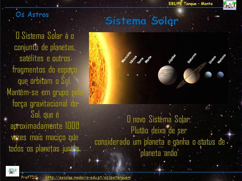 EB1/PE Tanque - Monte ProfTIC- http://escolas.madeira-edu.pt/eb1petanquemhttp://escolas.madeira-edu.pt/eb1petanquem O novo Sistema Solar: Plutão deixa