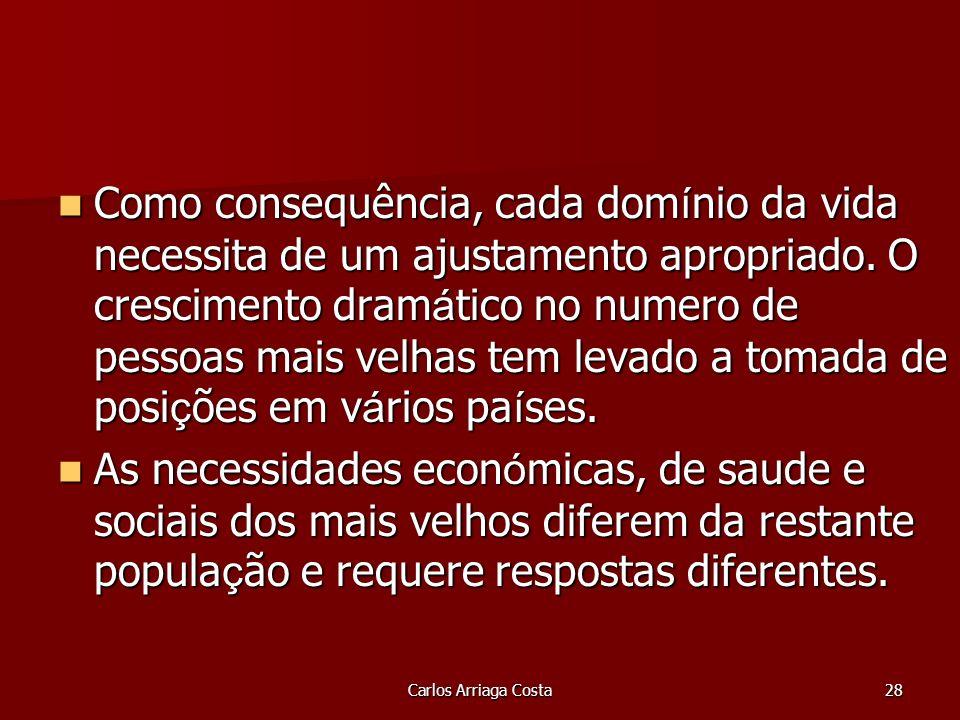Carlos Arriaga Costa28 Como consequência, cada dom í nio da vida necessita de um ajustamento apropriado.