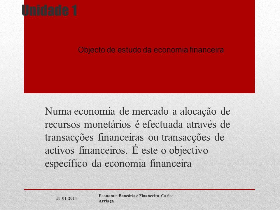 Optimal Production With Borrowing 19-01-2014Economia Bancária e Financeira Carlos Arriaga Consumpti on Today (t=0) Io F0 Future Consumpt ion (t=1) R1 F1 U*U* C * 1 = X * 1 C * 0 =X * 0 U ** U ** > U * C ** 1 X ** 1 X ** 0 C ** 0