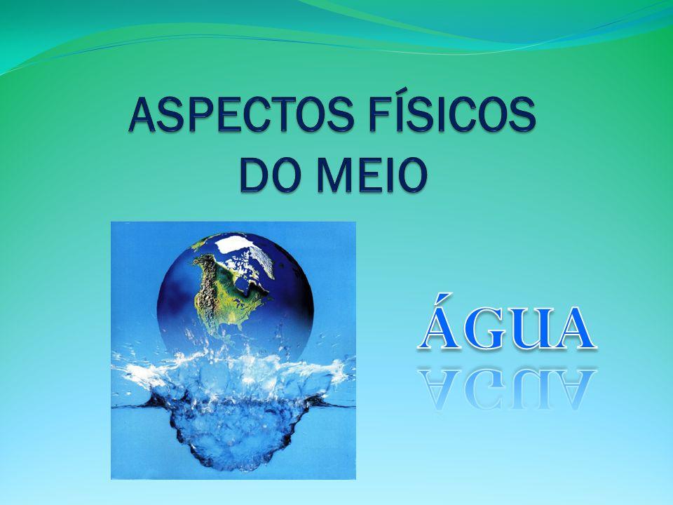 A ÁGUA O que é a água? A água é… …um elemento da Natureza …essencial à vida