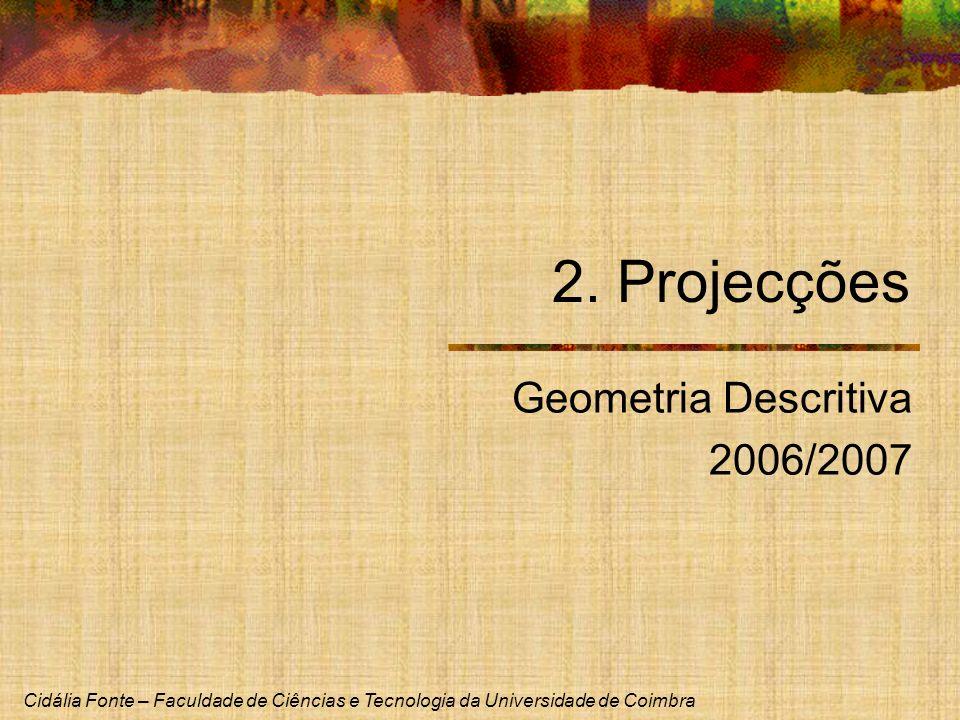 2. Projecções Geometria Descritiva 2006/2007