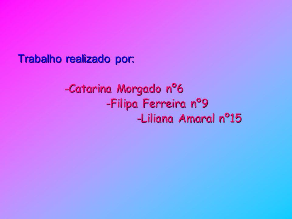 Trabalho realizado por: - Catarina Morgado nº6 - Catarina Morgado nº6 -Filipa Ferreira nº9 -Filipa Ferreira nº9 -Liliana Amaral nº15 -Liliana Amaral n