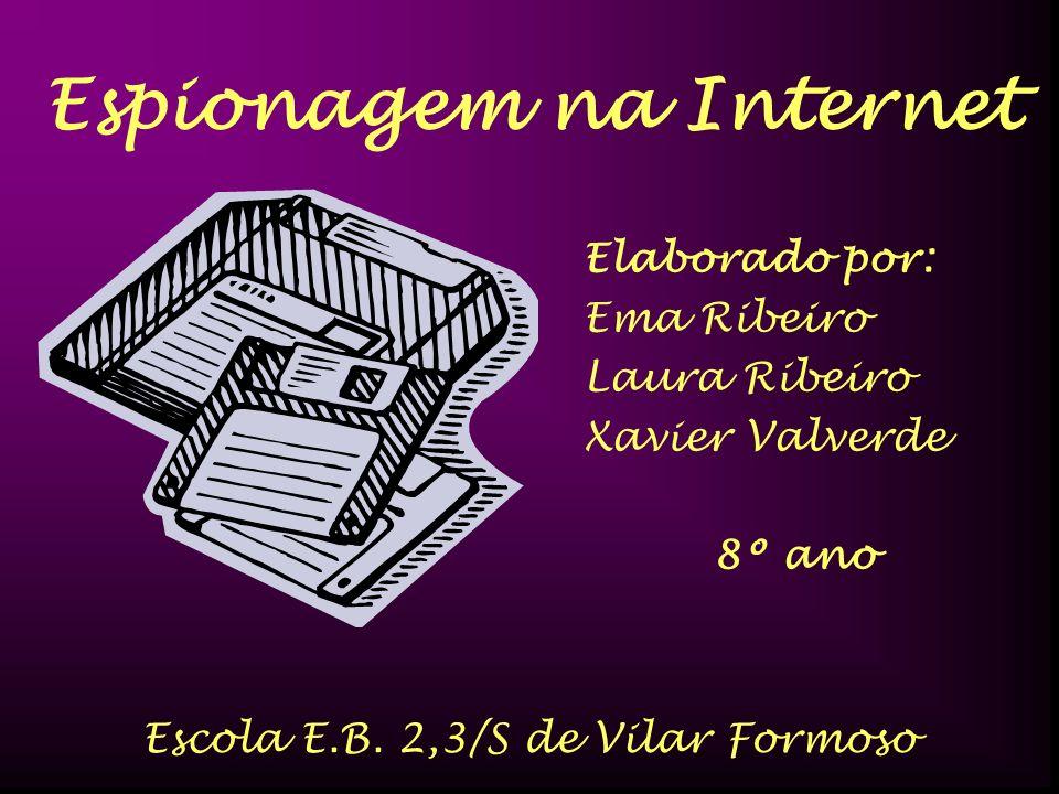 Espionagem na Internet Escola E.B. 2,3/S de Vilar Formoso Elaborado por: Ema Ribeiro Laura Ribeiro Xavier Valverde 8º ano