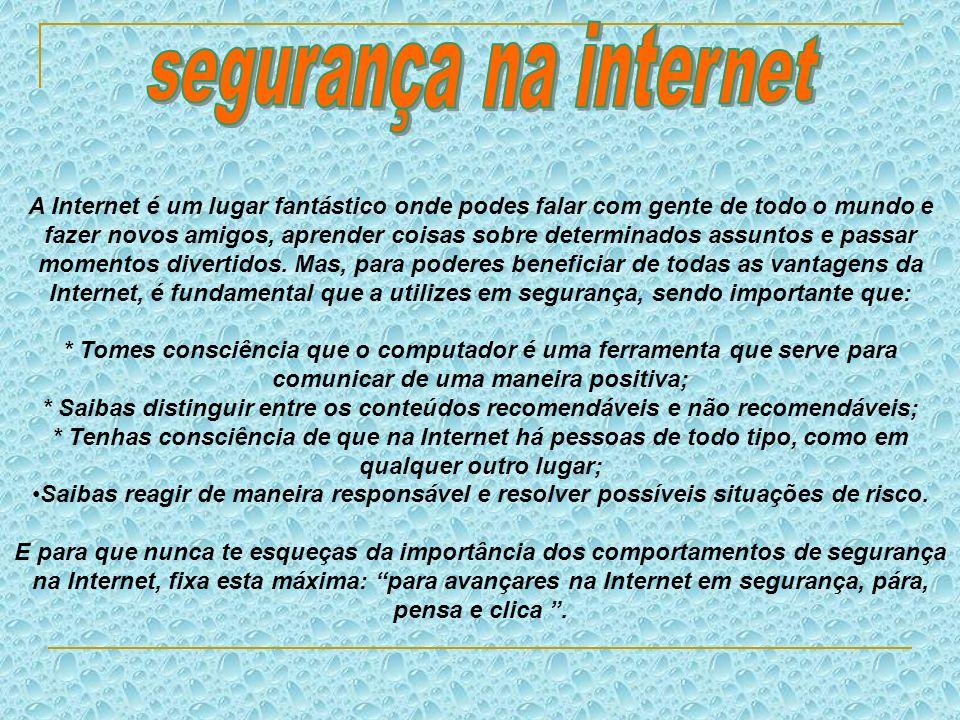 Os vírus de computadores são um dos principais riscos quando vais à Internet.