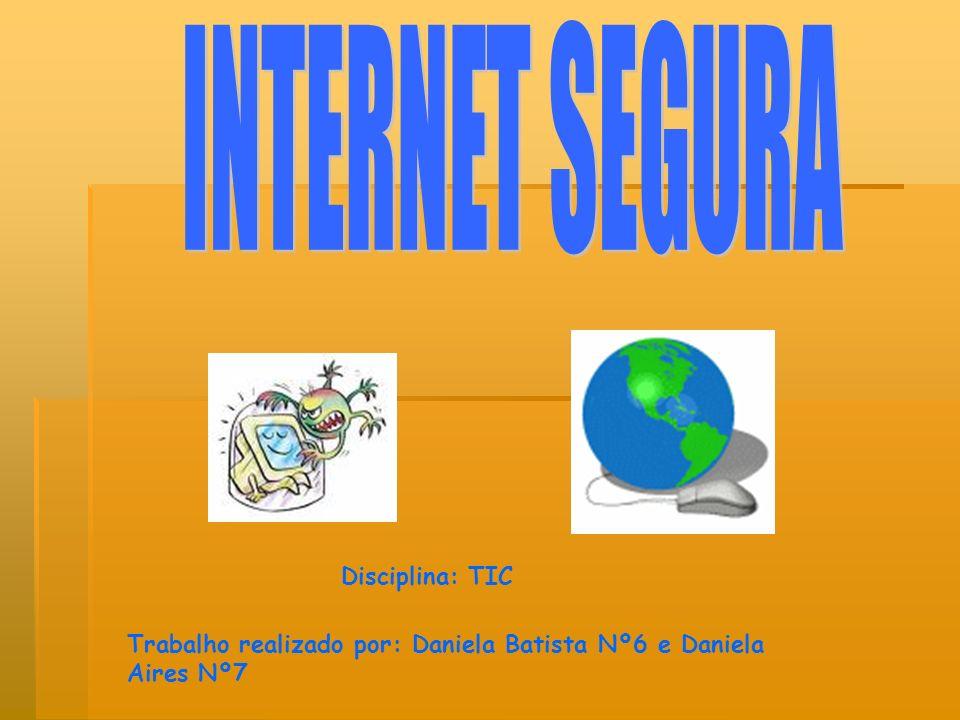 Navegar com segurança na Internet Proibido : ( Dar dados pessoais a pessoas que se «conheçam» através da net.