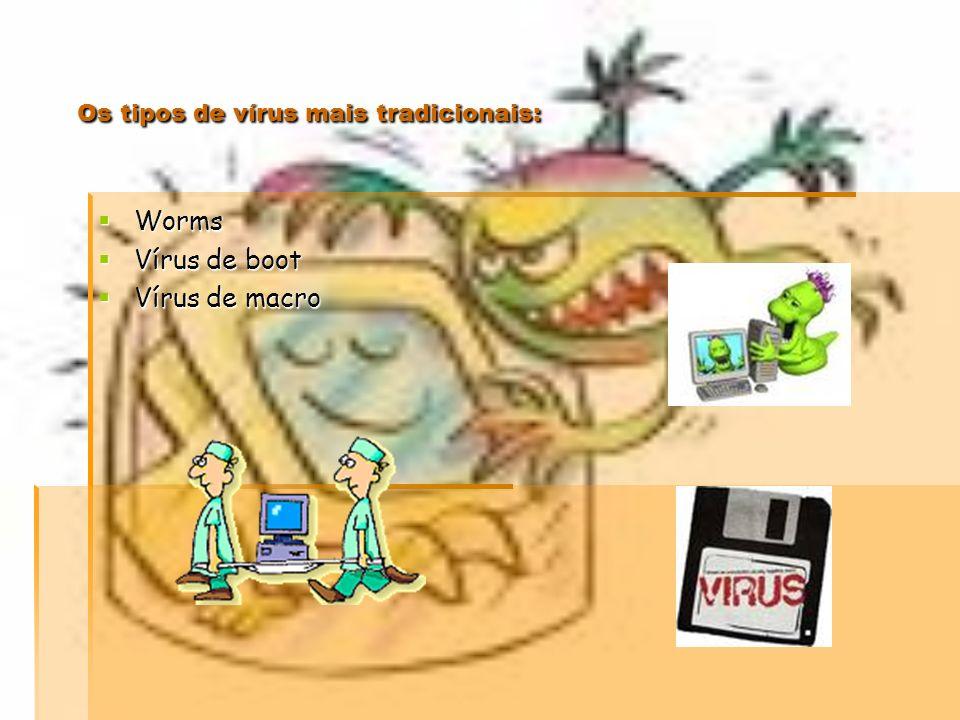 Vírus informáticos O que é um Vírus Informático? Em informática, um programa que se reproduz e transfere de um computador para outro sem que o utiliza