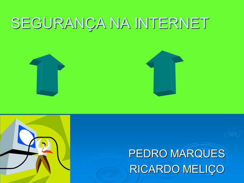 SEGURANÇA NA INTERNET PEDRO MARQUES RICARDO MELIÇO