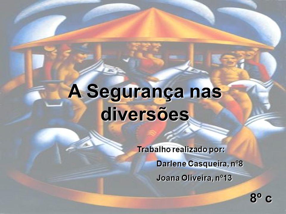 A Segurança nas diversões Trabalho realizado por: Darlene Casqueira, nº8 Darlene Casqueira, nº8 Joana Oliveira, nº13 Joana Oliveira, nº13 8º c 8º c