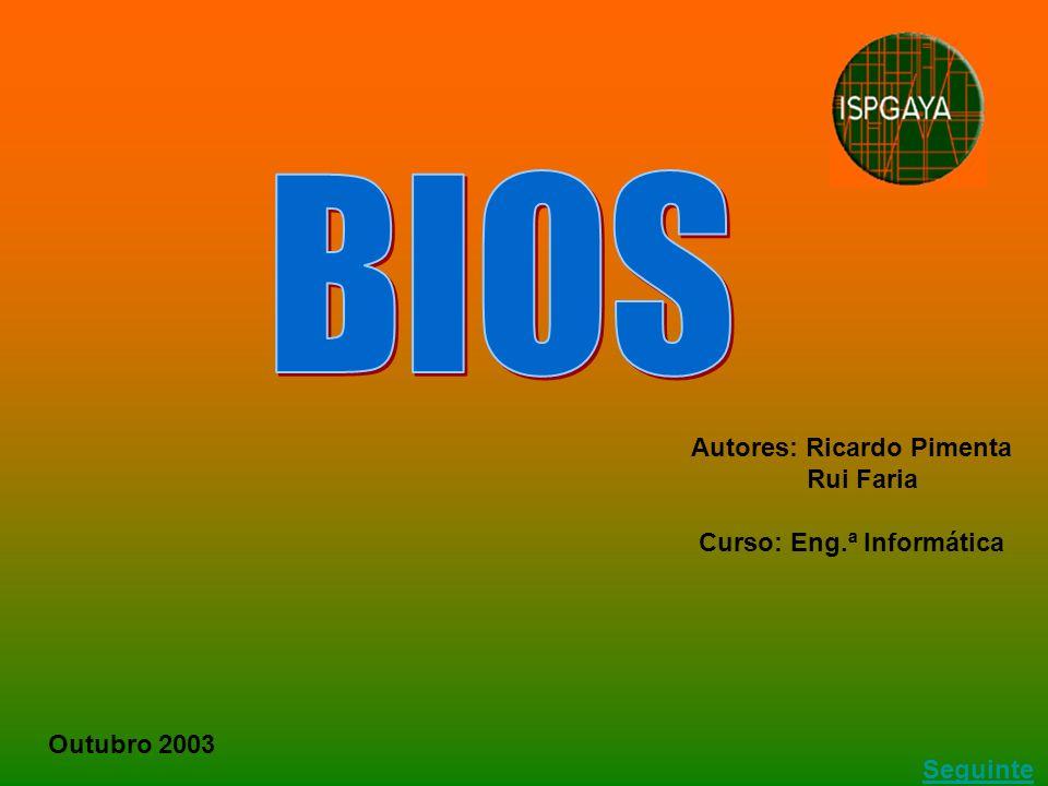 Autores: Ricardo Pimenta Rui Faria Curso: Eng.ª Informática Outubro 2003 Seguinte