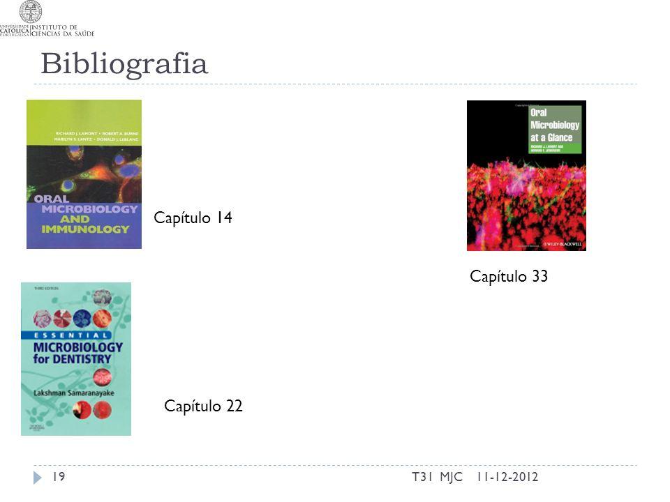 Bibliografia Capítulo 14 Capítulo 22 11-12-201219T31 MJC Capítulo 33