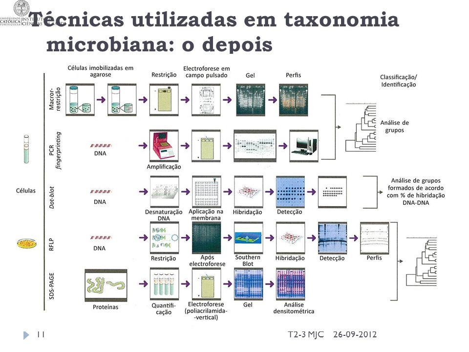 Técnicas utilizadas em taxonomia microbiana: o depois 26-09-2012T2-3 MJC11