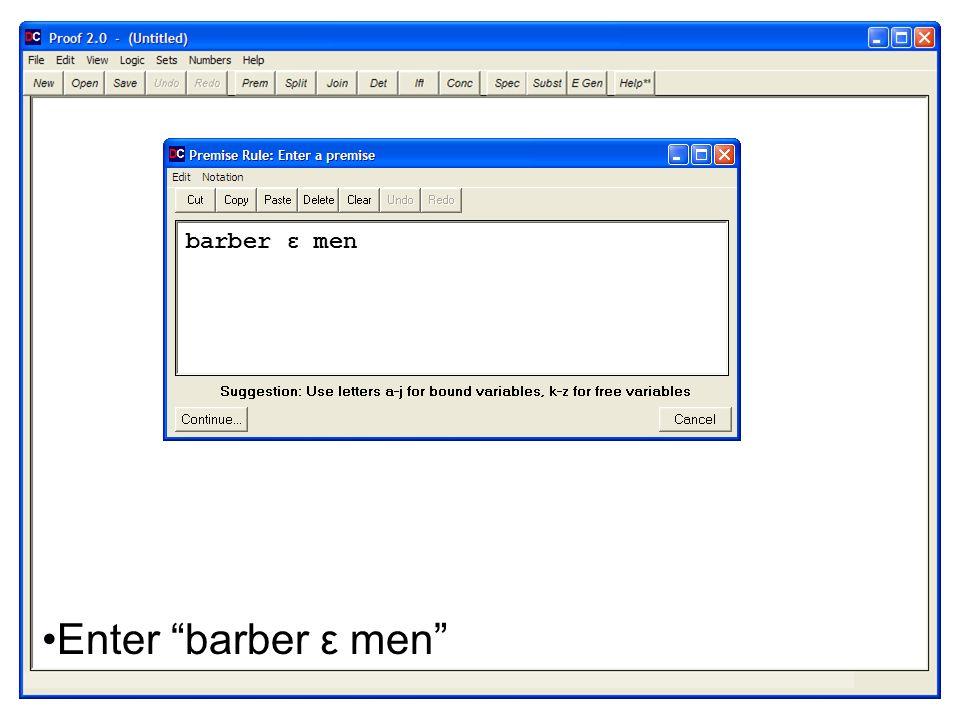 Enter barber ε men barber ε men