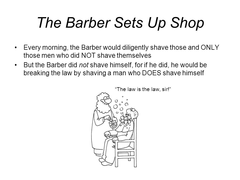 Until, one day… The town constable burst into the Barbers shop and arrested him for dereliction of his official duties.
