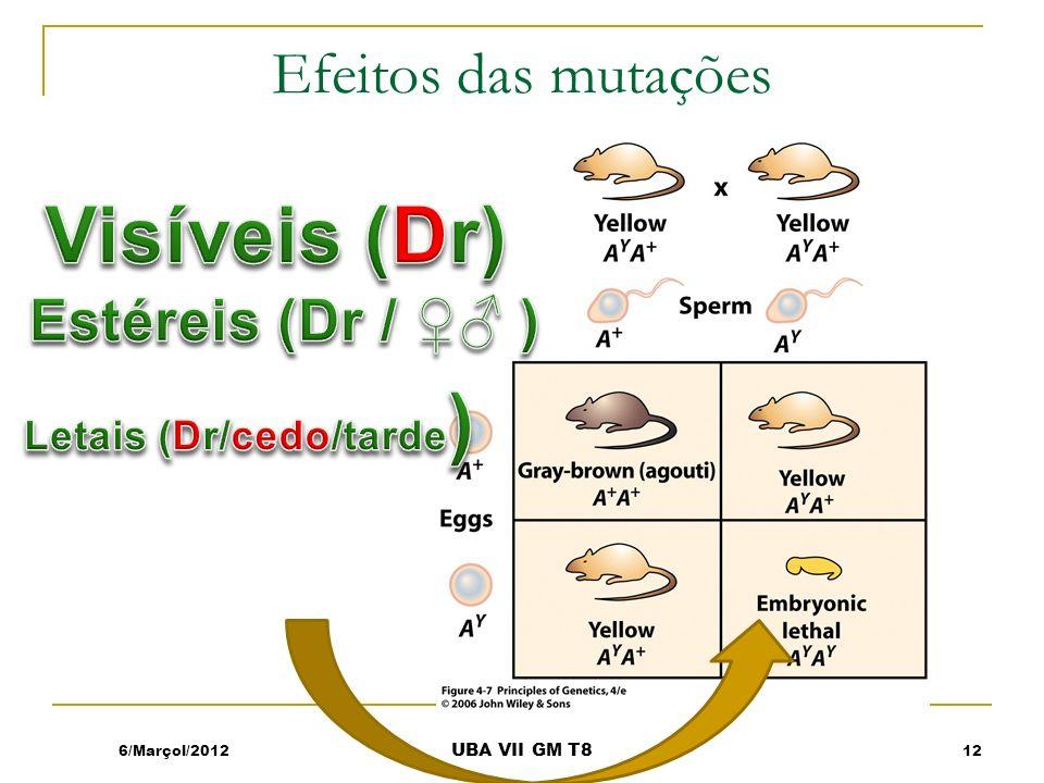 Efeitos das mutações 6/Marçol/201212 UBA VII GM T8