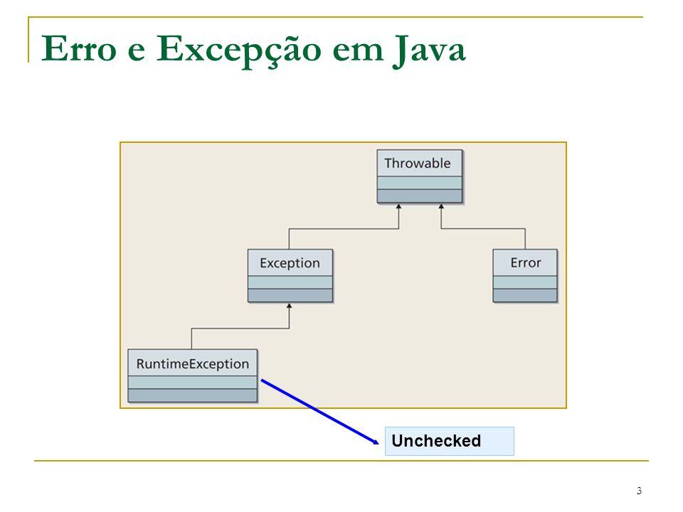 3 Erro e Excepção em Java Unchecked