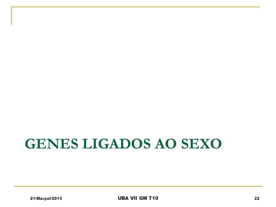GENES LIGADOS AO SEXO 21/Marçol/201322 UBA VII GM T10