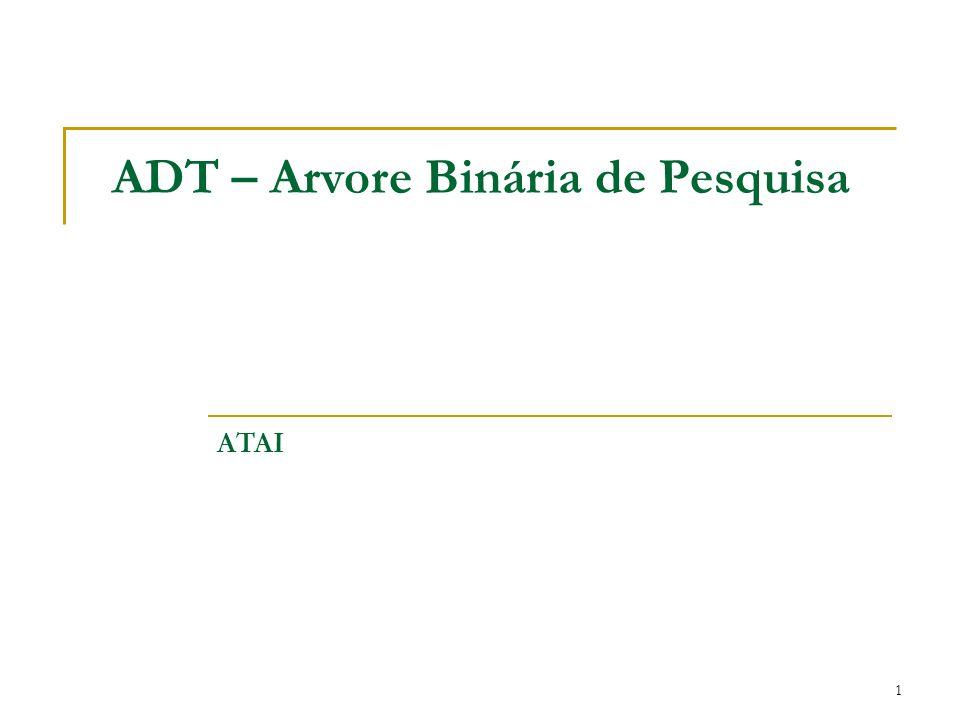 1 ADT – Arvore Binária de Pesquisa ATAI
