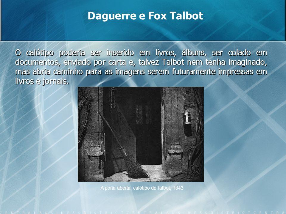 O calótipo poderia ser inserido em livros, álbuns, ser colado em documentos, enviado por carta e, talvez Talbot nem tenha imaginado, mas abria caminho