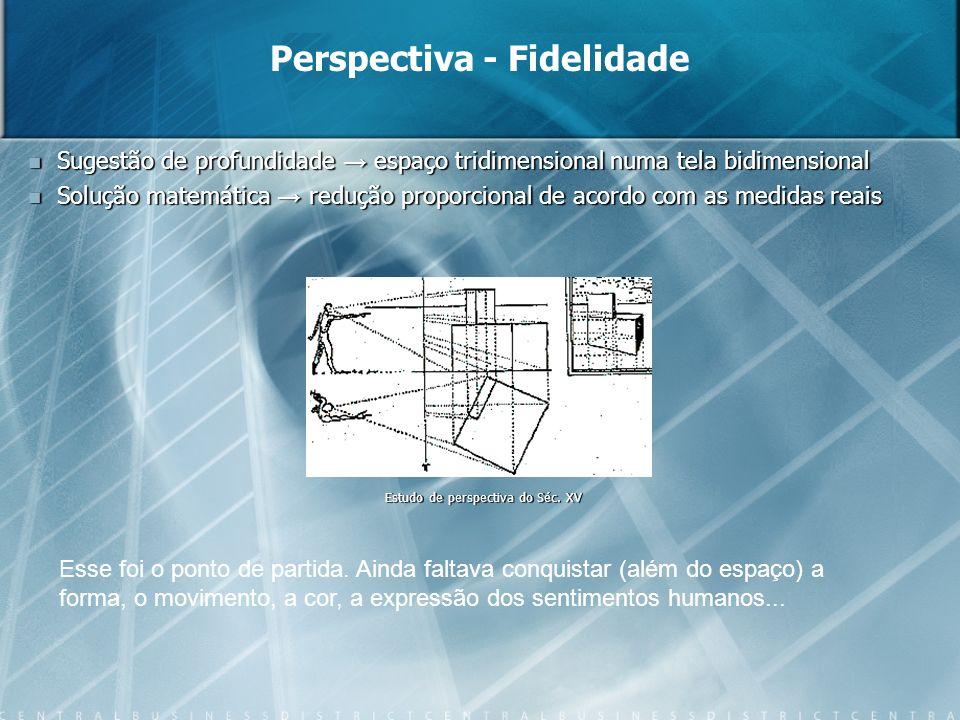 Sugestão de profundidade espaço tridimensional numa tela bidimensional Sugestão de profundidade espaço tridimensional numa tela bidimensional Solução