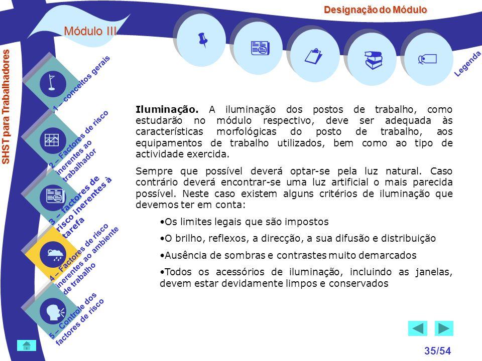 SHST para Trabalhadores 1 – conceitos gerais 2 – Factores de risco inerentes ao trabalhador 3 – factores de risco inerentes à tarefa 4 – Factores de r