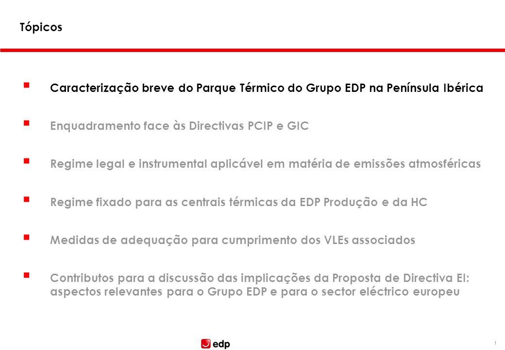 Aspectos relevantes para o Grupo EDP Seminário: Proposta de Directiva relativa às Emissões Industriais João Gonçalves Centro de Congressos da AIP Lisb