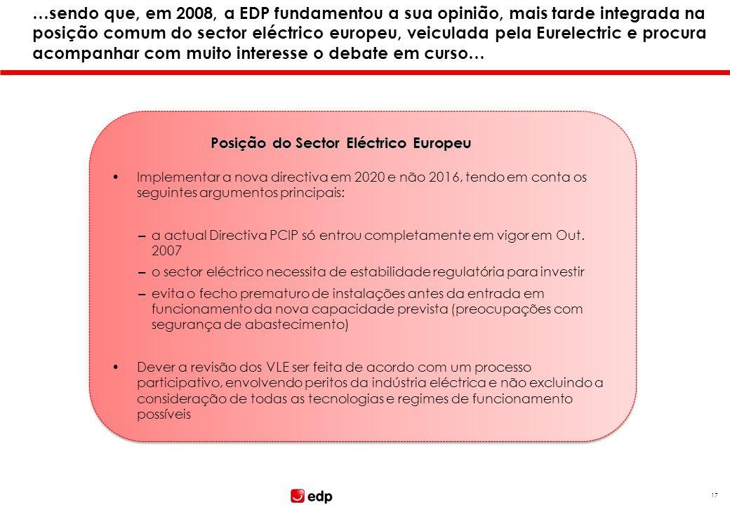 16 Passando a analisar a proposta de Directiva EI, importa ter em conta as últimas posições conhecidas por parte da COM, do PE e da Presidência (franc